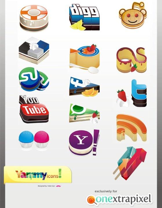 yammyed yummy cake social media icons