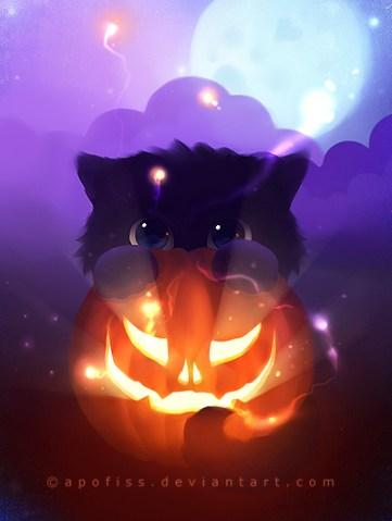 halloween yin by *Apofiss