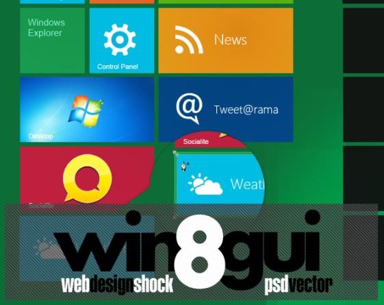 windows8 Metro UI PSD Pack