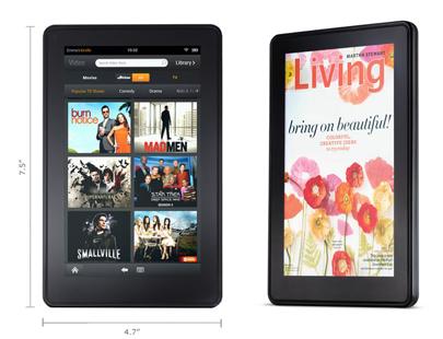 Amazon Kindle Fire size