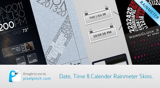 Date Time Calendar Rainmeter Skin