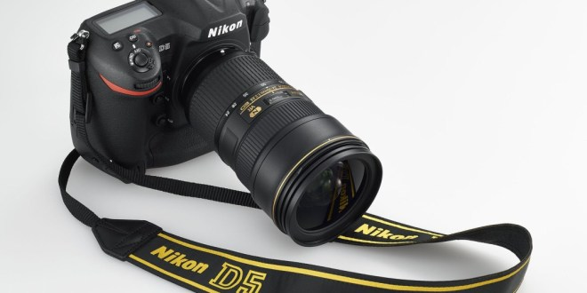Nikon D5 with strap