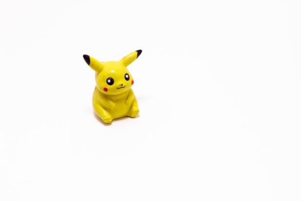 Pikachu Pokémon inside lightbox with a $5 setup