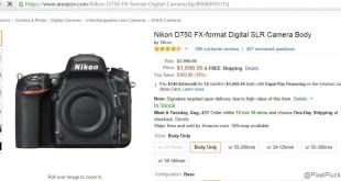 $300 off on Nikon D750 *Deal Alert*