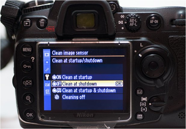 Use MENU to clean your sensor