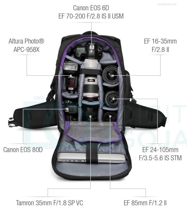 DSLR Camera Backpack Bag by Altura Photo - the Great Explorer