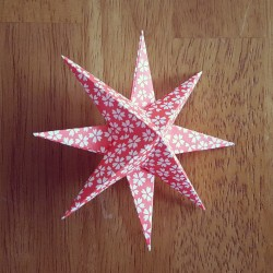 origami 8 point star