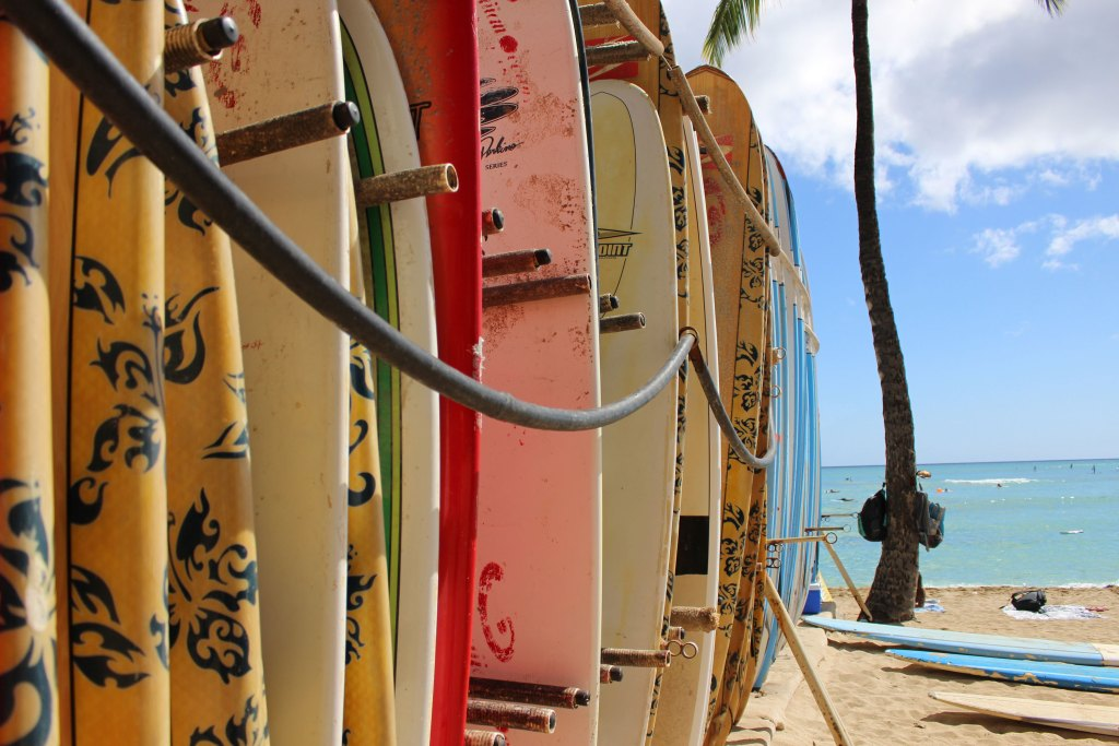surfboards in hawaii
