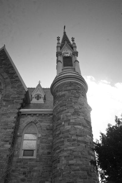 bell tower B&W