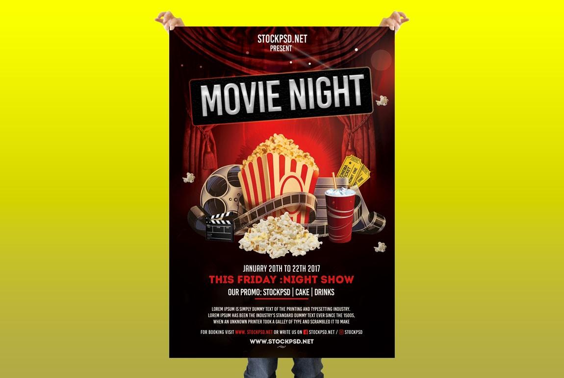 Movie Night Free Psd Flyer Template Free Psd Flyer