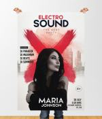 Electro Sound – Free Party PSD Flyer Template