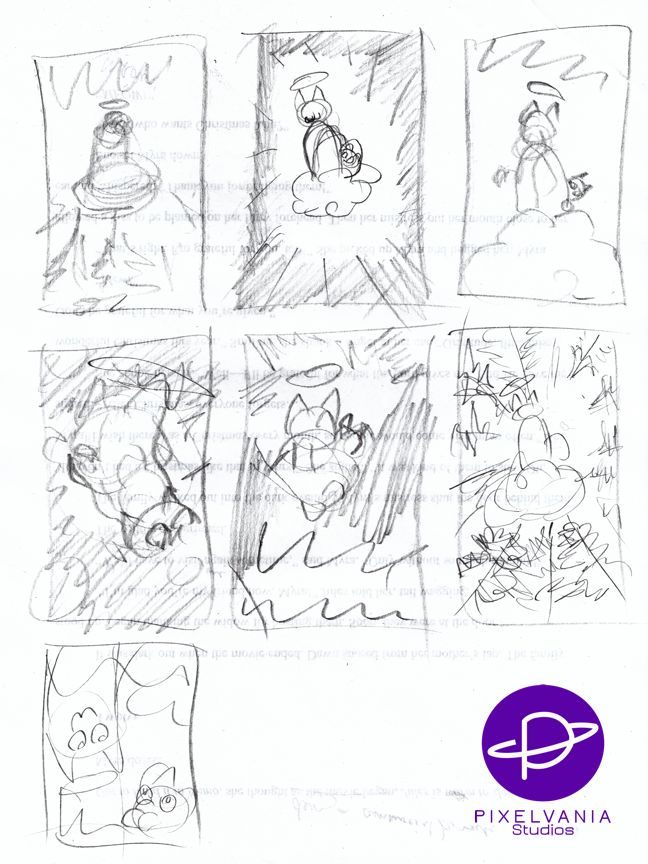 Gingersnap Cat Christmas - rough cover thumbnails