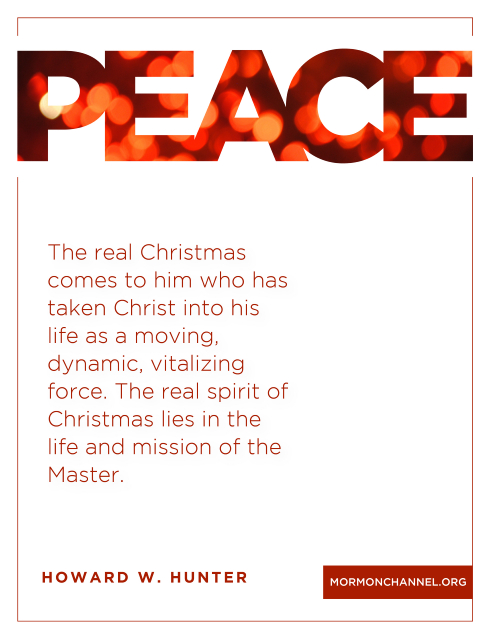 Howard W Hunter Christmas Quote - The real Christmas comes to him who has taken Christ into his life as a moving, dynamic, vitalizing force. The real spirit of Christmas lie in the life and mission of the Master.