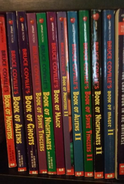 Spines for Bruce Coville's BOOK OF... series