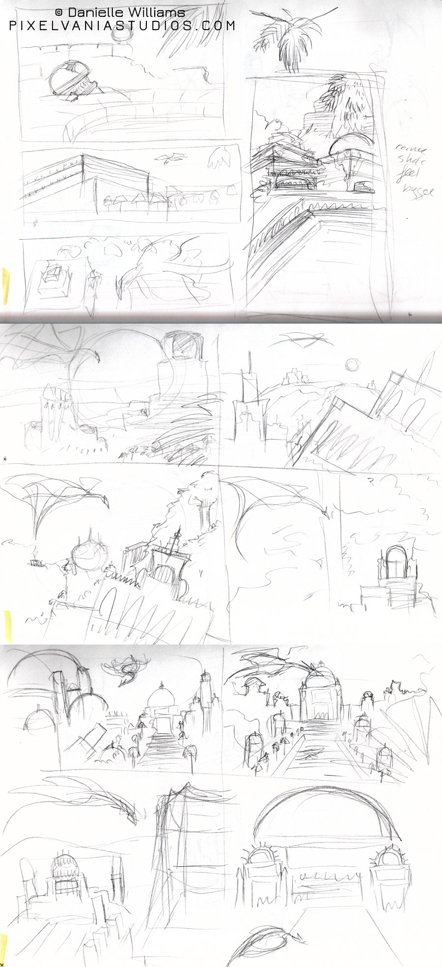 """Various """"Dragon City"""" composition tries"""
