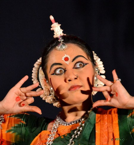 Odissi dancer facial expression