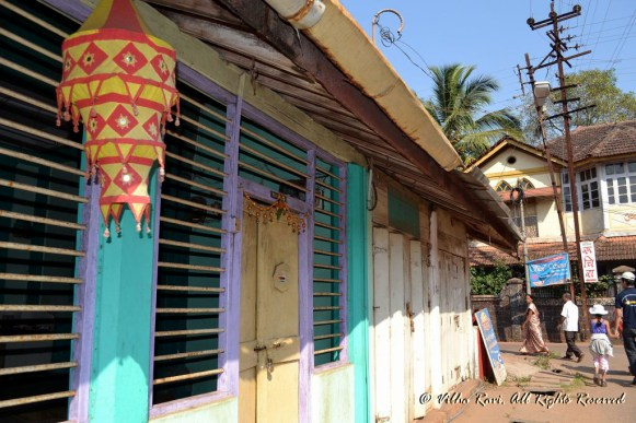 Colorful house in Malvan