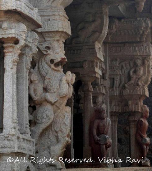 Musical pillars in Sangeeta Mandapam, Vitthala Temple