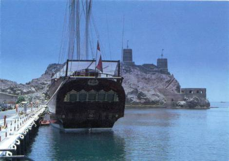 Traditional dhow. Photo courtesy - www.tourism-oman.com