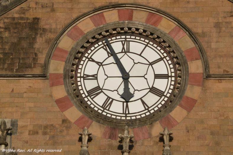 Clock on Chhatrapati Shivaji Terminus/VT facade