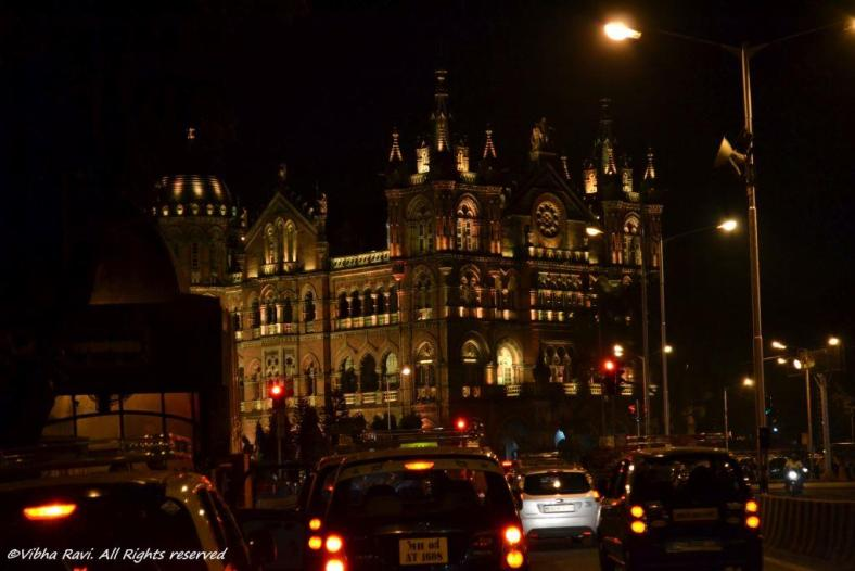 Chhatrapati Shivaji or Victoria Terminus at night