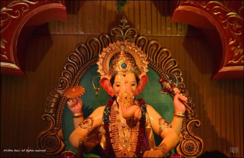 Ganapati idol at a pandal