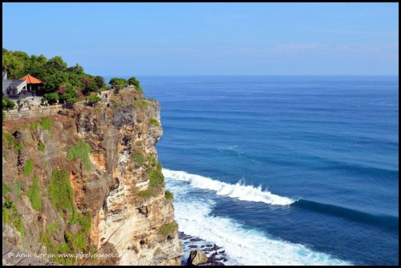 A view of the Indian Ocean from Pura Uluwatu