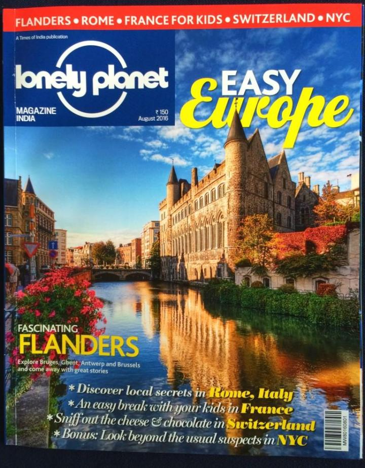 Lonely Planet Magazine India August cover