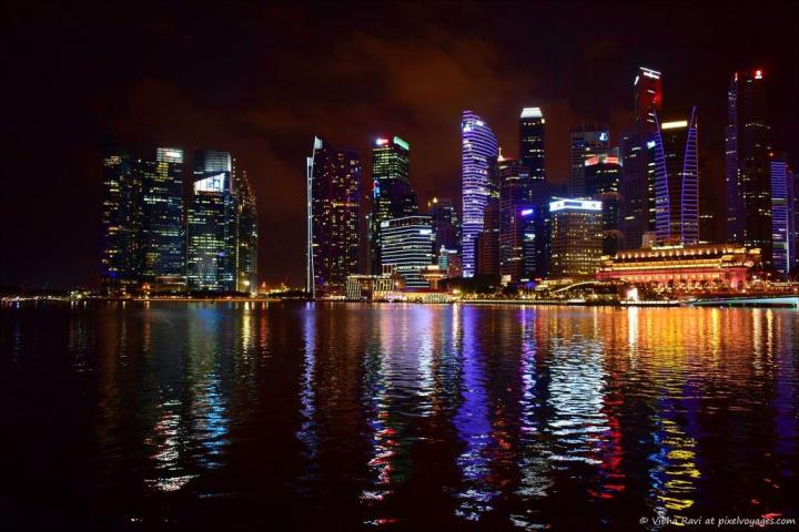 Raffles Place from the waterfront