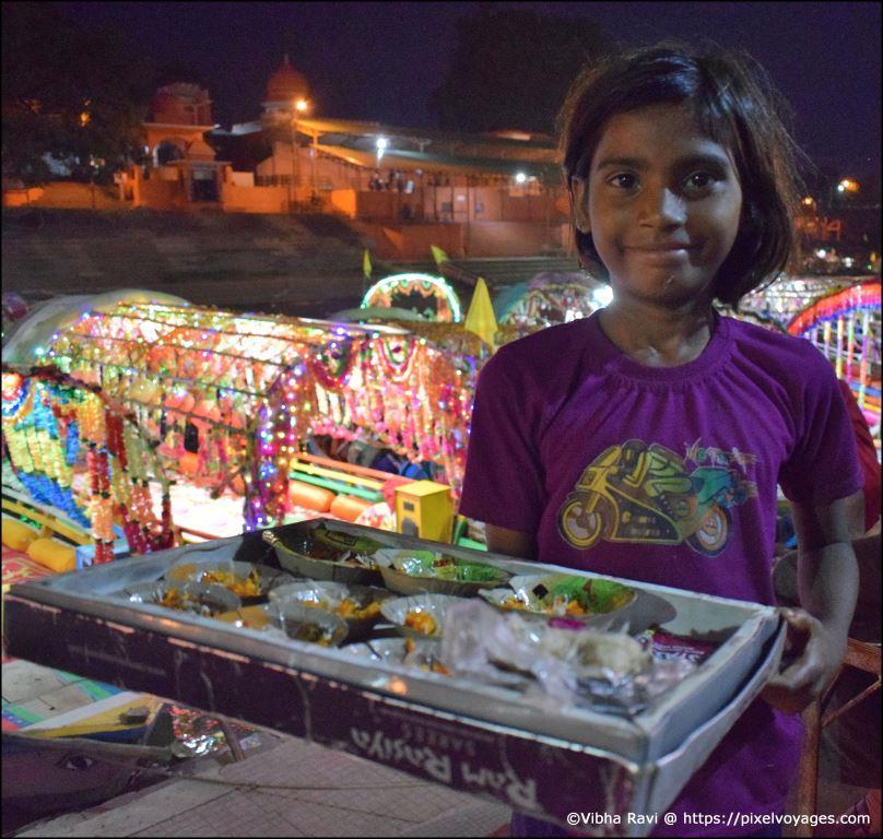 Indian girl street vendor