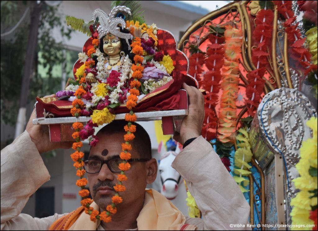 Krishna idol from Karwi taken for Jal Vihar at Chitrakoot