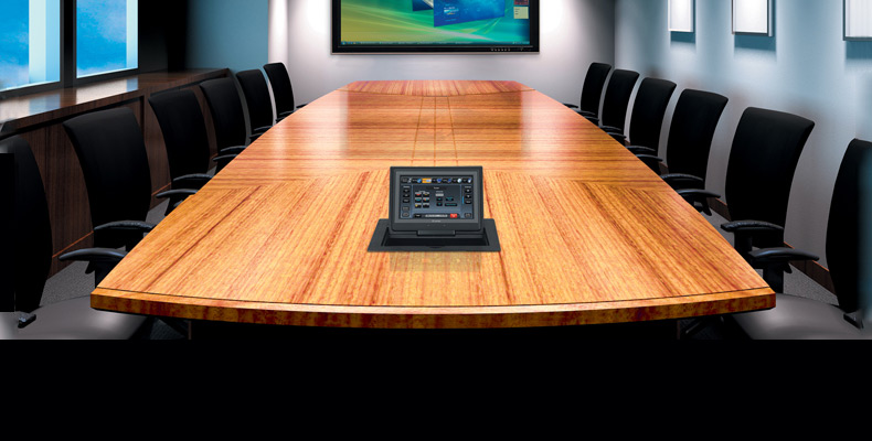 cable cubby touchlink touchpanel conference room