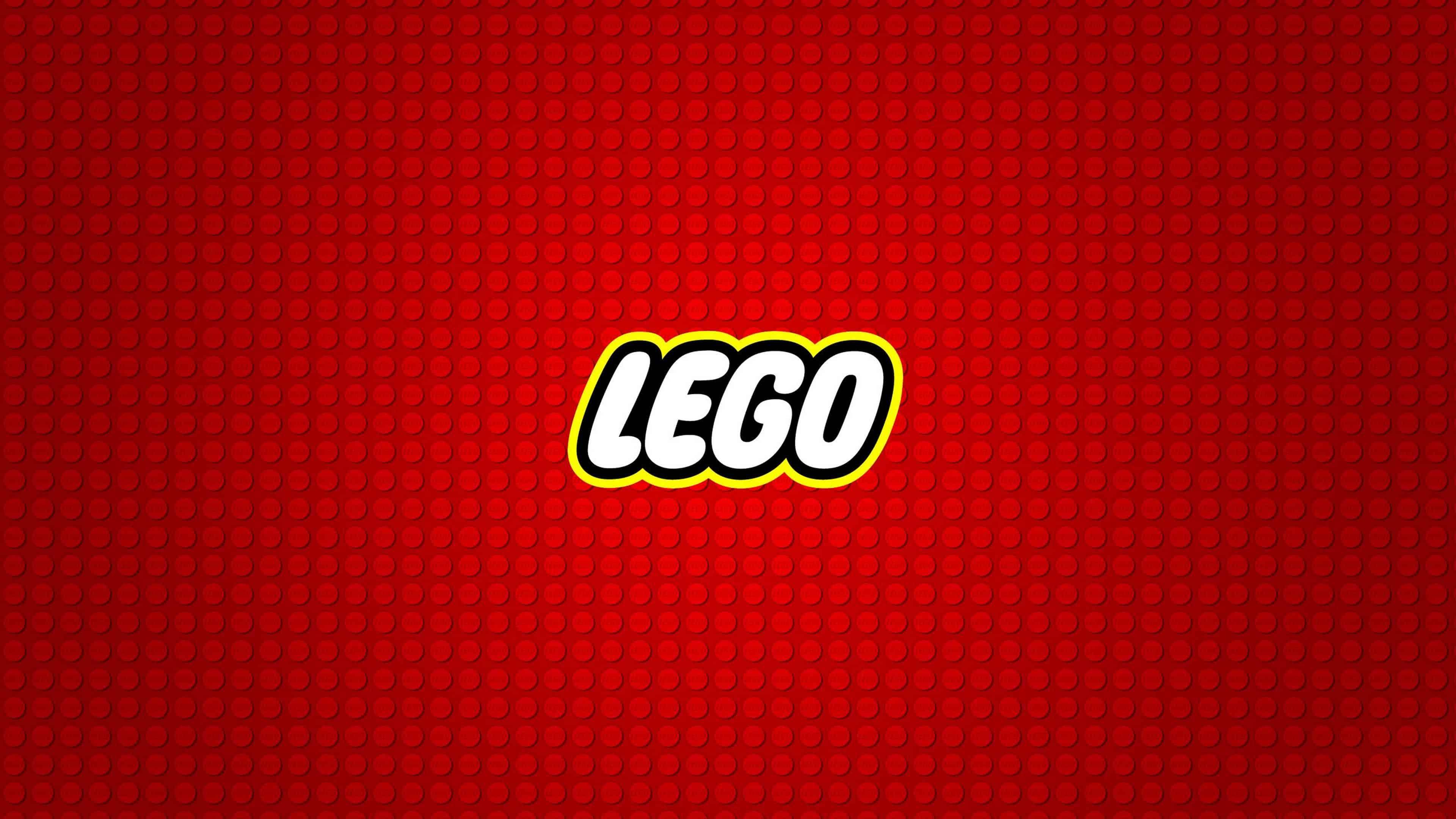 LEGO Logo Red Background UHD 4K Wallpaper Pixelz