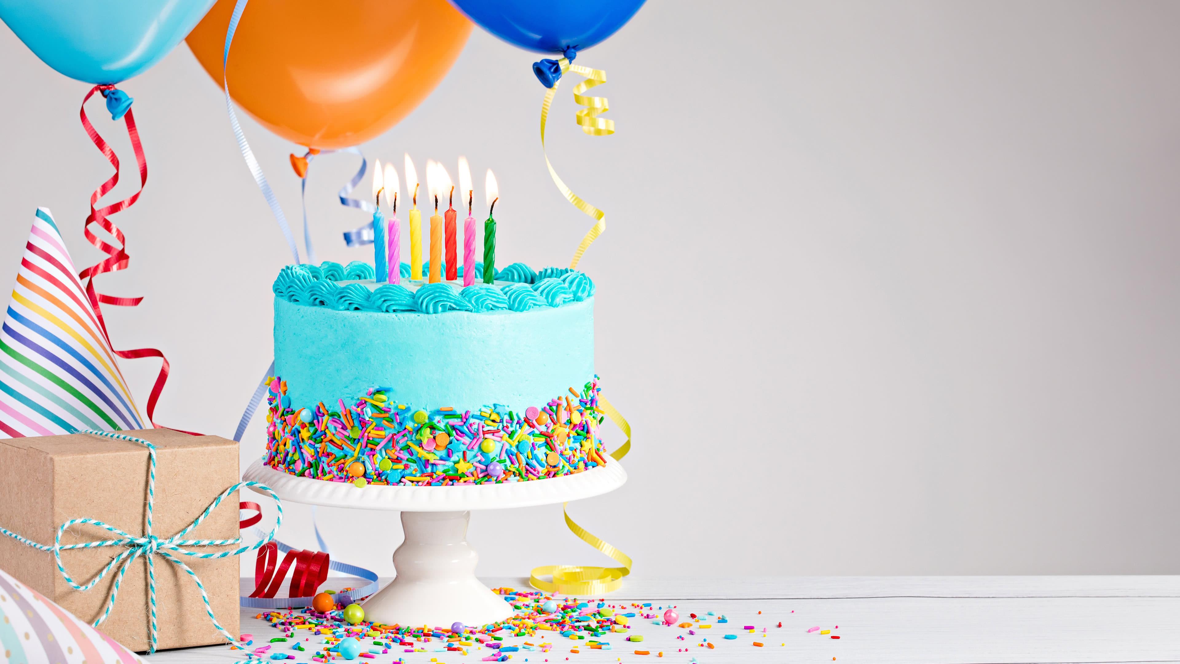 Birthday Cake And Balloons Uhd 4k Wallpaper Pixelz Cc