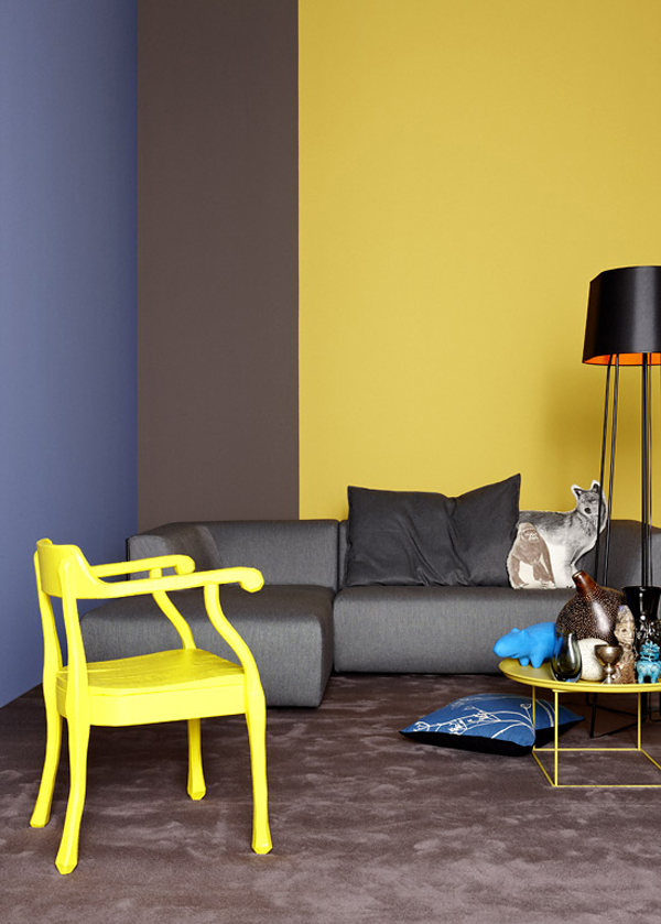 Yellow, Blue and Gray Room - PIXERS.pl/blog