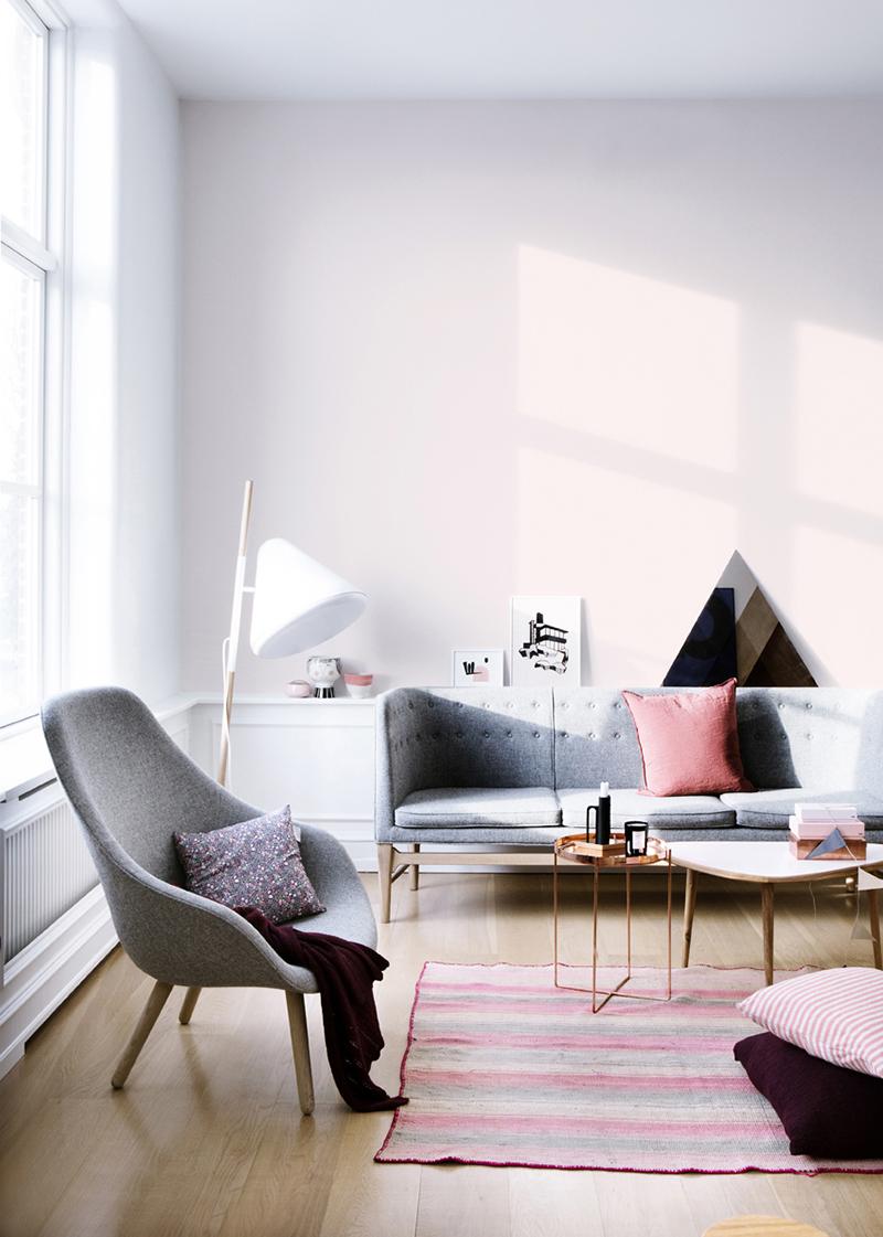 Szaro różowe wnętrze - PIXERS blog