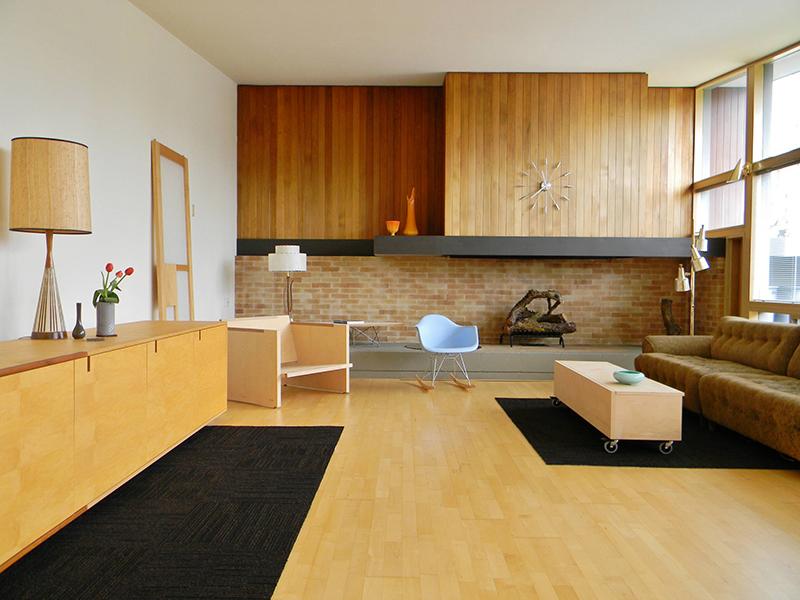 Wętrze Salonu w stylu Mid Century - PIXERS blog