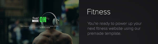 Slidea - Fitness Template
