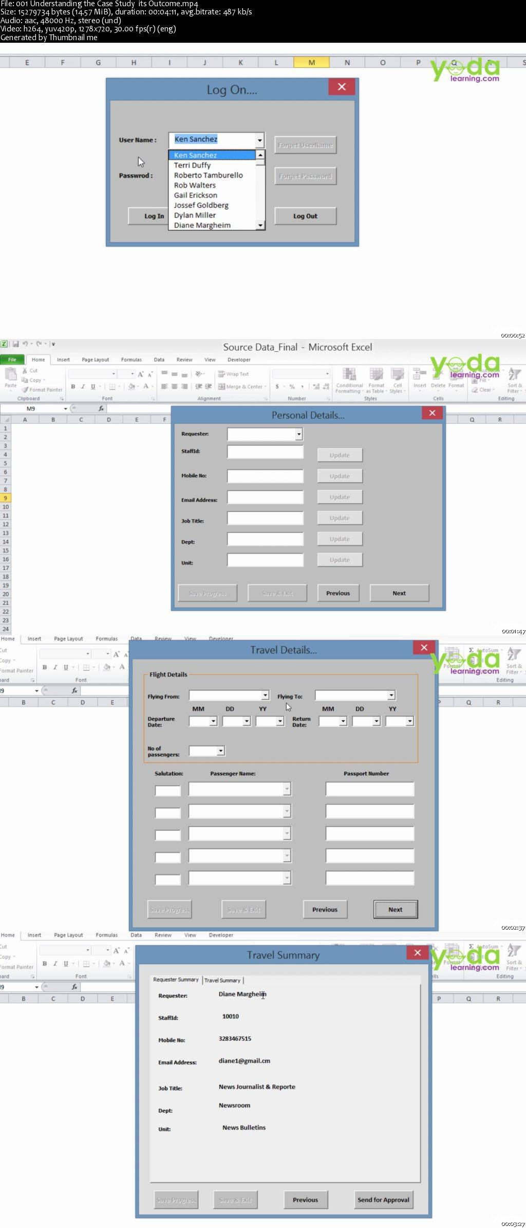 Excel Vba Learn To Create Employee Travel Tracker Forms
