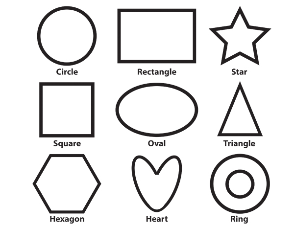 basic shapes coloring page