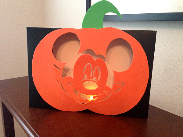 Mickey Vampire Cereal Box Pumpkin Lantern
