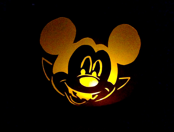 Cereal Box Mickey Lantern Halloween