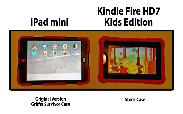 iPad Mini vs Kindle Fire HD7 Kids Edition