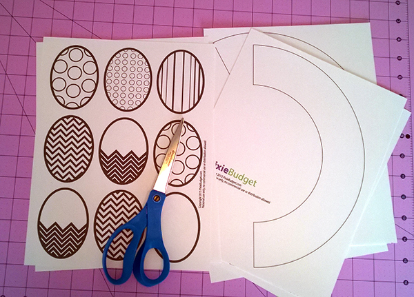 Easter Egg Door Wreath Coloring Page Craft