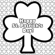 St. Patrick's Day Coloring Page – Printable