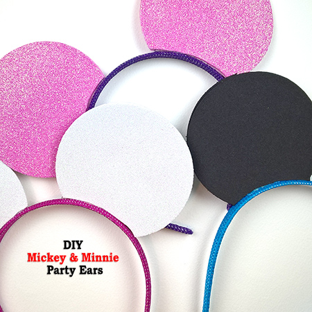 DIY Mickey and Minnie Party Ears