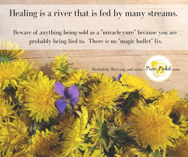 Healing is a river fed by many streams.