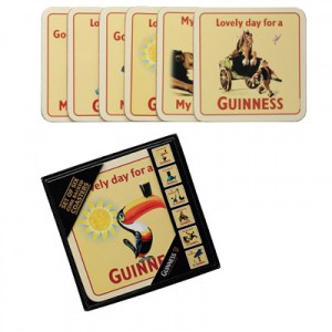 Guinness Cork Backed Coasters 6pk