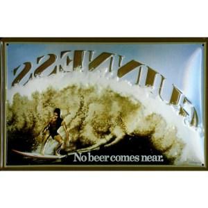 Guinness No Bear Comes Near Metal Sign