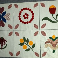 The 1857 Quilt:  the first six!